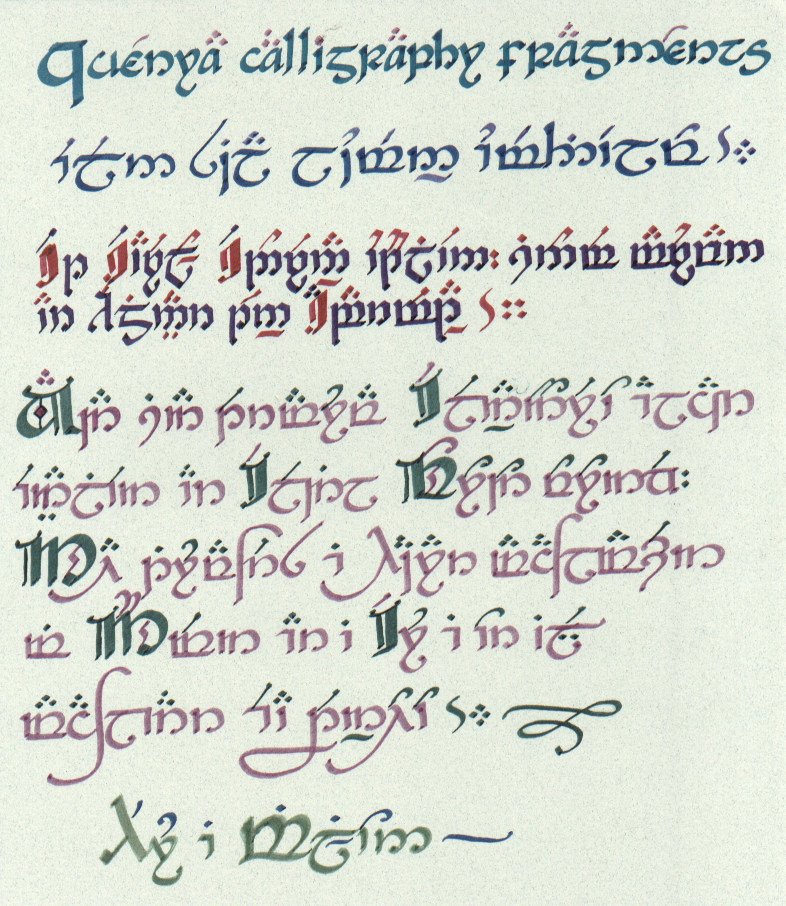 Calligraphy Forming Old English Letters by Johnpaul